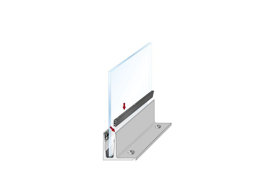 Glassline Ganzglasgeländer BALARDO hybrid Montage Step 5