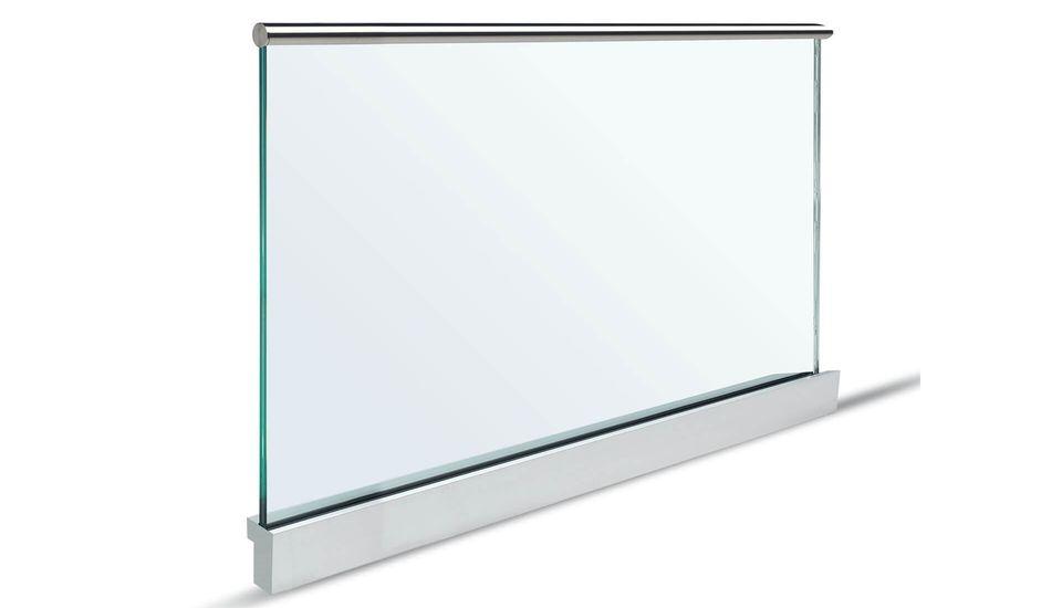 Glasgeländer Balarado Steel Profil mit Glas - Glassline