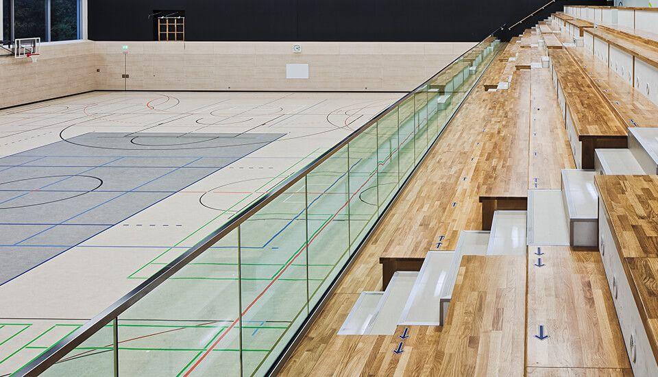 Glassline Balardo core HD Stadion Absicherung