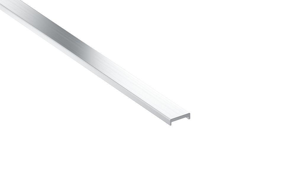 Glaskantenschutzprofile Edelstahl, h = 6 mm, t = 1,5 mm, Lieferlänge 3.000 mm, 1.300 mm, Material: Aluminium (EN AW - 6063 T66), Oberfläche: Natur unbehandelt
