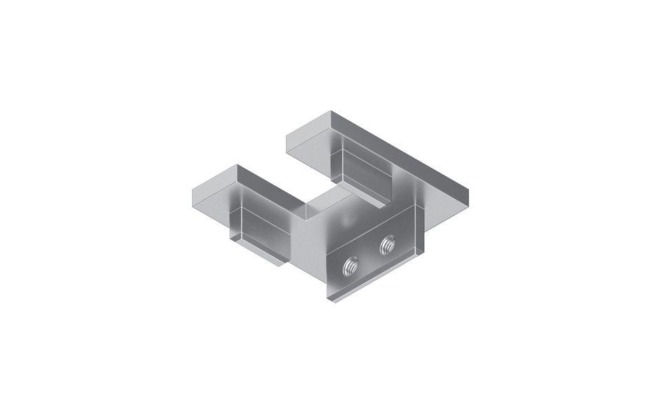 Glassline Französischer Balkon Absturzsicherung BALMERO Abschlussdeckel mit Glasüberstand