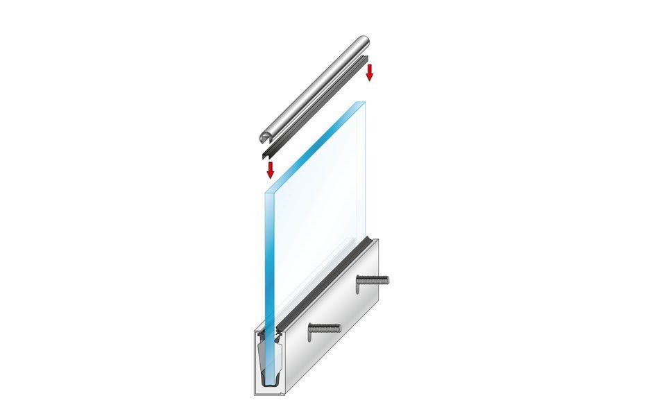 Glassline Glasgeländer Balardo Alu Montage Step 9