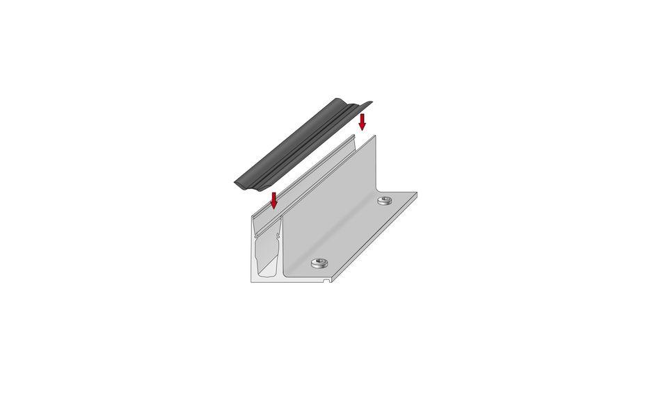 Glassline Ganzglasgeländer BALARDO hybrid Montage Step 2