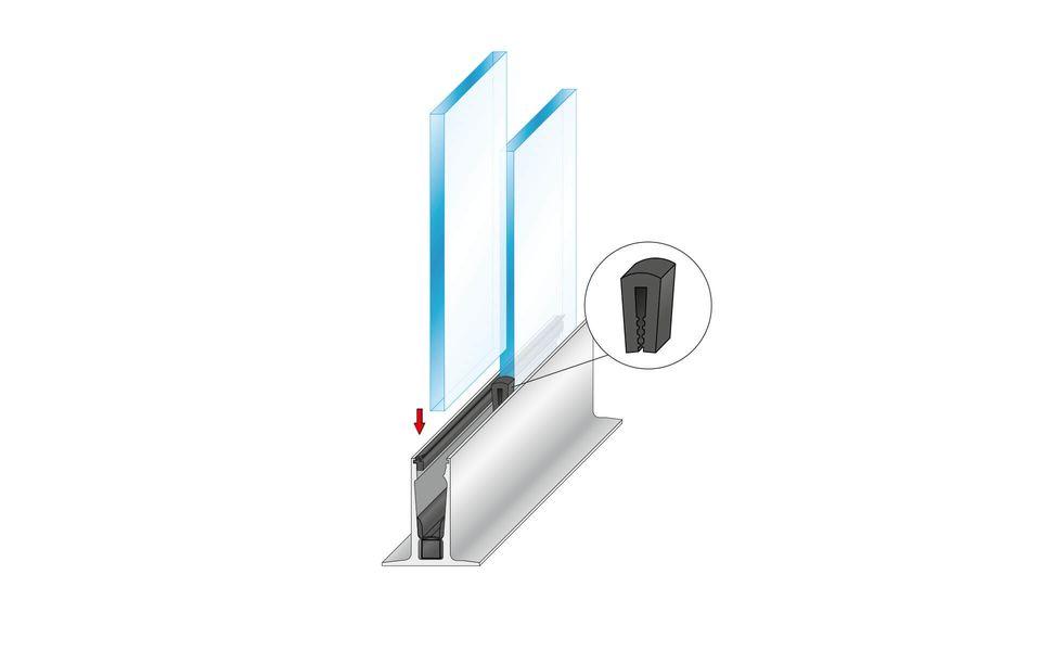 Wind- und Sichtschutz Davento von Glassline - Einstellen des Glases