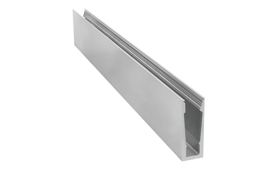 Glass railing Balardo Wave from Glassline - Top2 alu profile