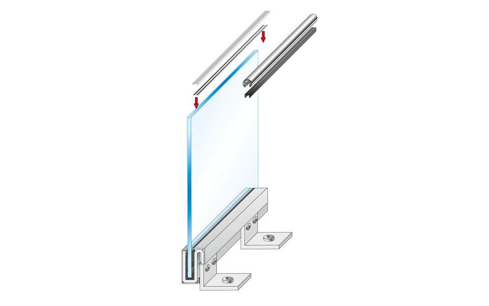 Montageanleitung Glasgeländer Balardo Steel Step9