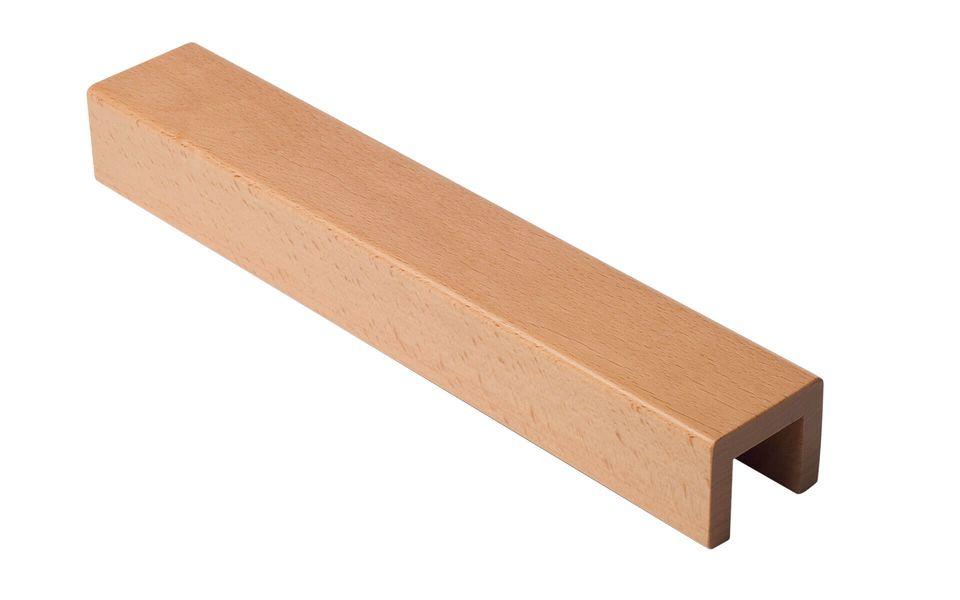 Glasgeländer Balado Steel - Holz-Handlauf