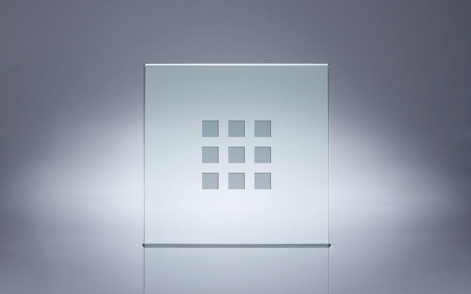 Wind- und Sichtschutz Davento von Glassline - Glasbeispiel 9 Quadrate