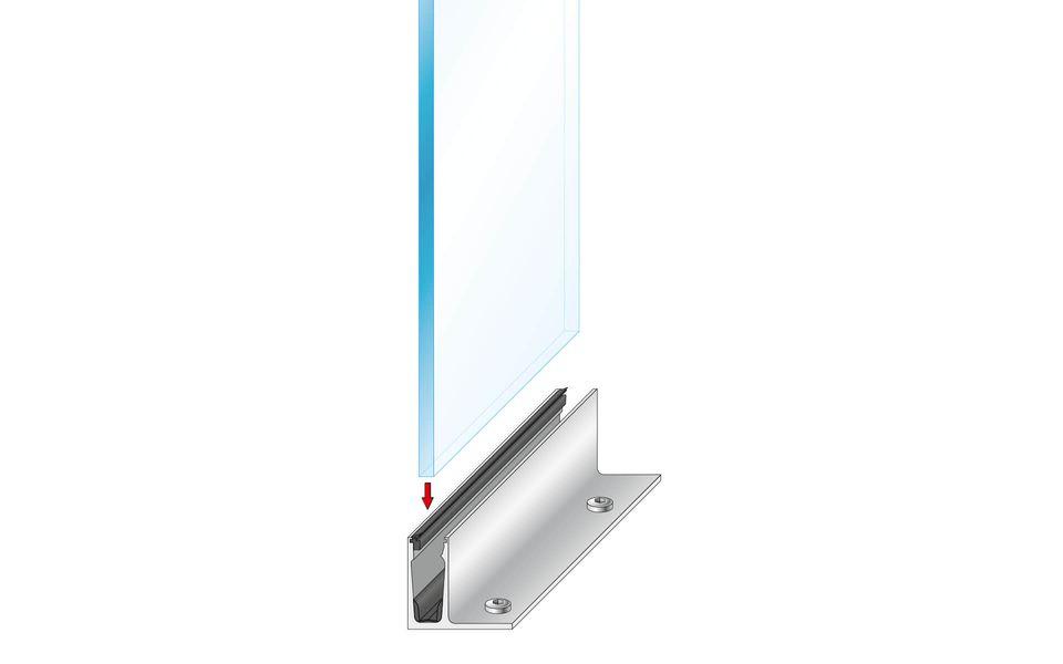 Plafondhoge beglazing Balardo Glasswall van GLASSLINE - Montage-Step 5