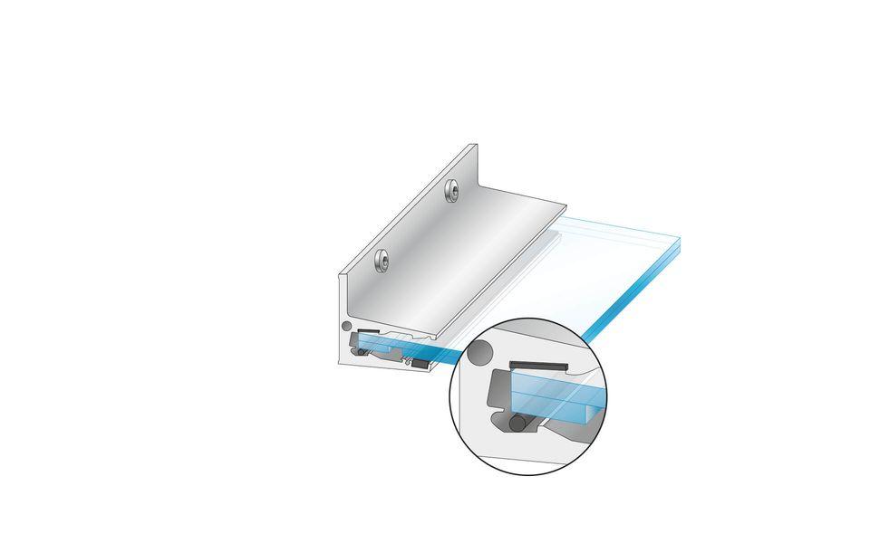 Glasvordach Canopy Cloud von Glassline - Einführen der Glasscheibe