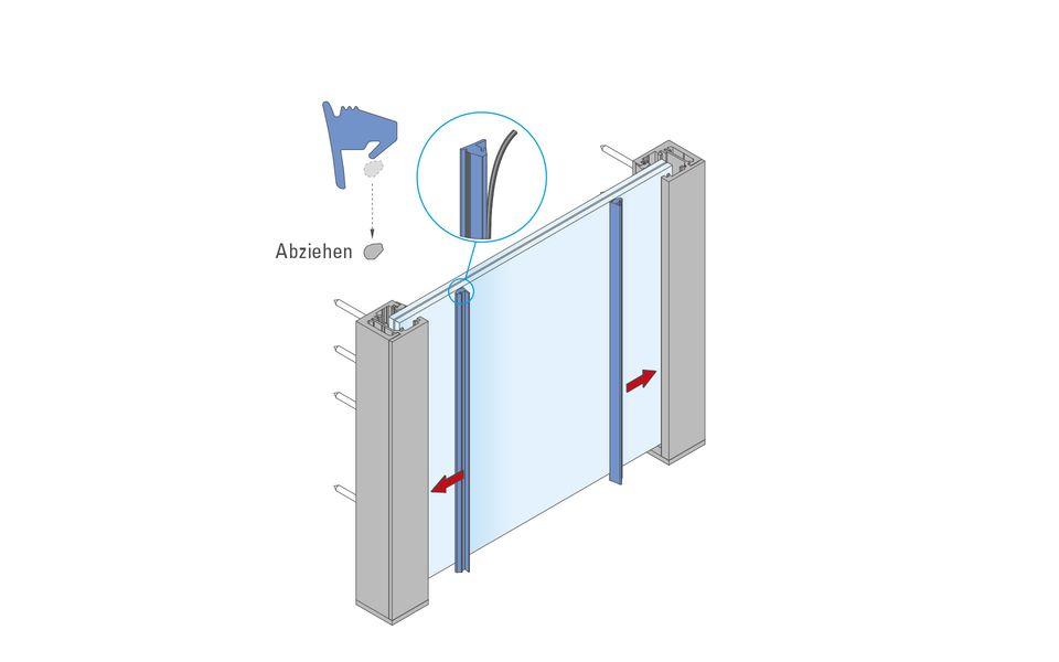 Glassline Französischer Balkon Absturzsicherung BALMERO Montage Step 7