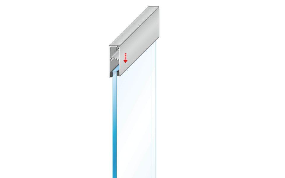 Plafondhoge beglazing Balardo Glasswall van GLASSLINE - Montage-Step 6