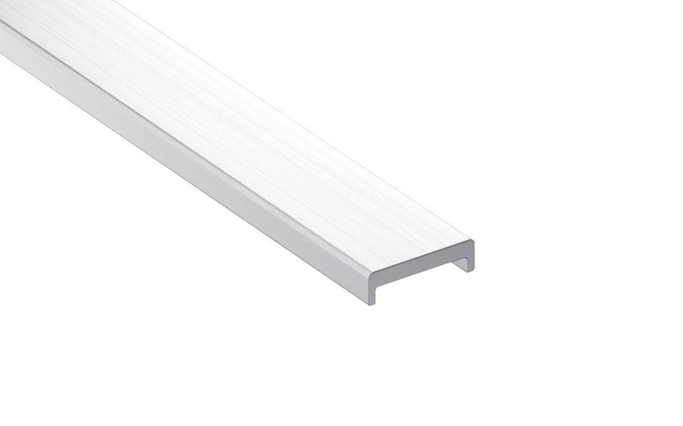Glassline Französischer Balkon Absturzsicherung BALMERO Aluminium Glaskantenschutzprofil