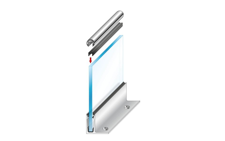 Glass railing Balardo Wave from Glassline - mounting step 9