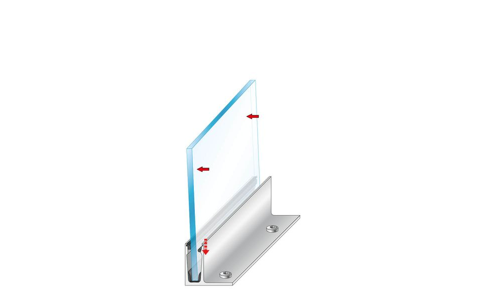 Glassline Glass railing Balardo core installation step 6
