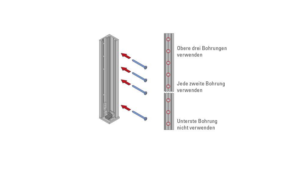 Glassline Französischer Balkon Absturzsicherung BALMERO Montage Step 3