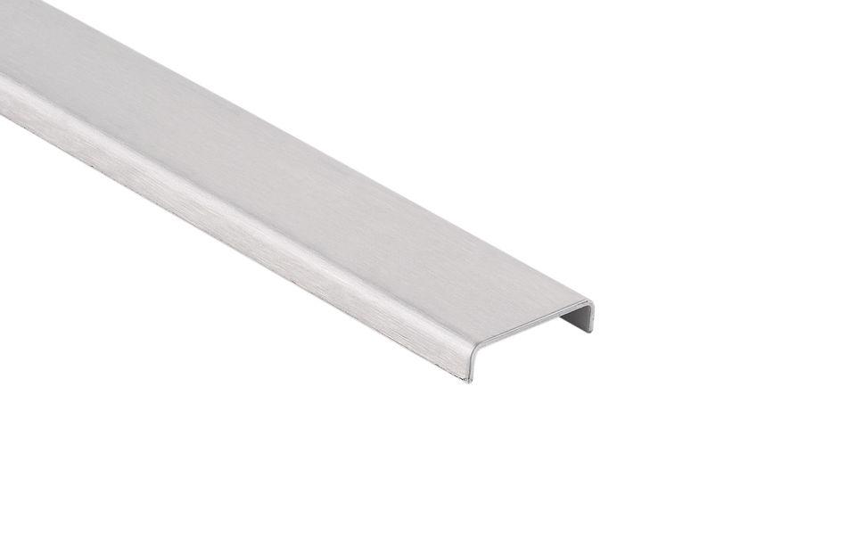 Glassline Französischer Balkon Absturzsicherung BALMERO Edelstahl Glaskantenschutzprofil