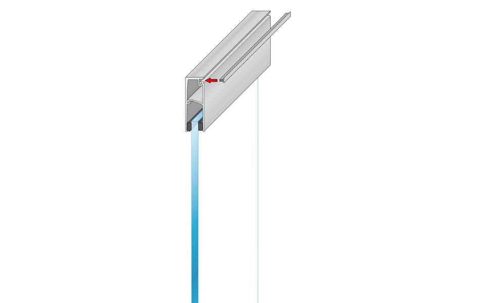 Plafondhoge beglazing Balardo Glasswall van GLASSLINE - Montage-Step 7