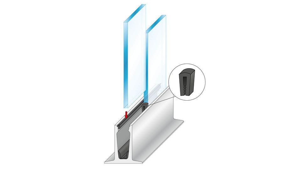 Wind- und Sichtschutz Davento von Glassline - Montage-Step 5