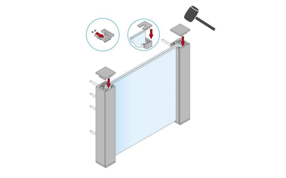 Glassline Französischer Balkon Absturzsicherung BALMERO Montage Step 8