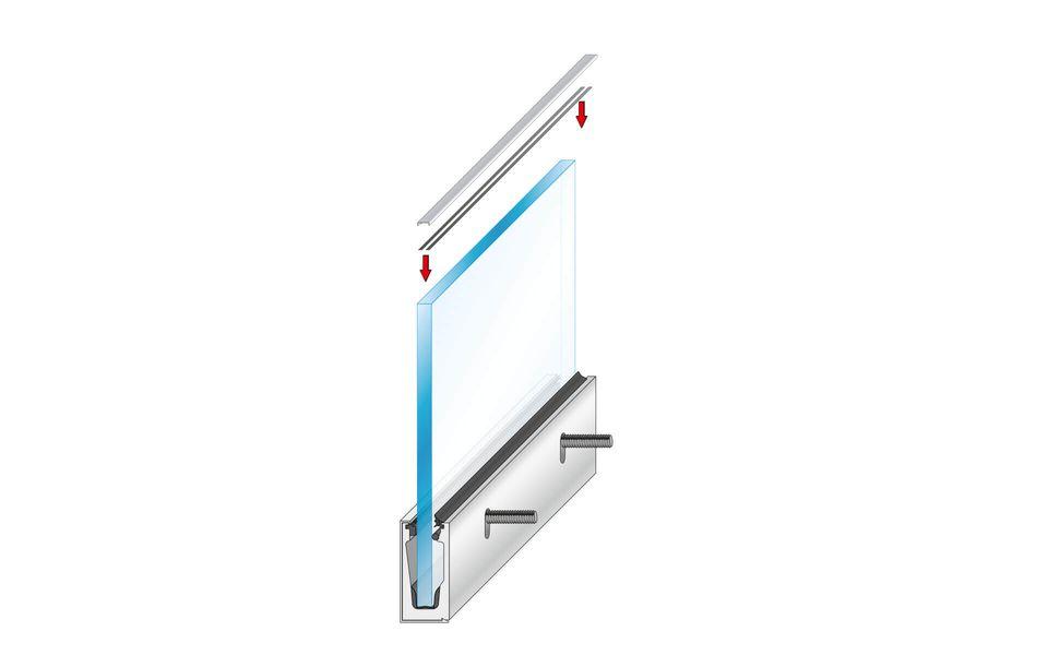 Glassline Glasgeländer Balardo Alu Montage Step 8