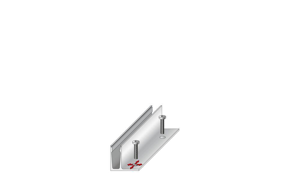 Raumhohe Verglasung Balardo Alu Glasswall von Glassline - Montage-Schritt 1