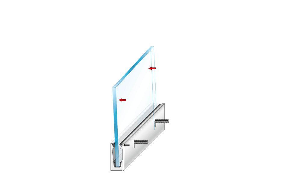 Glassline Glasgeländer Balardo Alu Montage Step 5