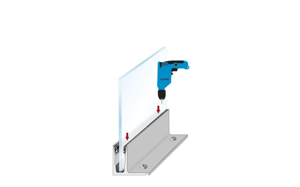 Glassline Ganzglasgeländer BALARDO hybrid Montage Step 6