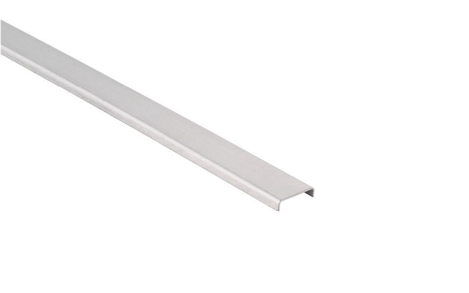 Glaskantenschutzprofile Edelstahl, h = 6 mm, t = 1 mm, Lieferlänge 3.000 mm, 1.300 mm, Material: Edelstahl 1.4301, Oberfläche: geschliffen