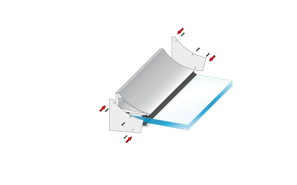 Glass Canopy Cloud from Glassline - securing of the side covers
