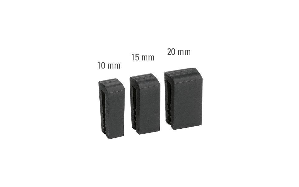Glasabstandhalter für Glasfuge, Material: EPDM, für Glasstärke: 2 x 8 mm, 2 x 10 mm, Einseitig selbstklebend, Verpackungseinheit: 5 Stück, Max. Stablänge: 600 mm (zum Zuschneiden)