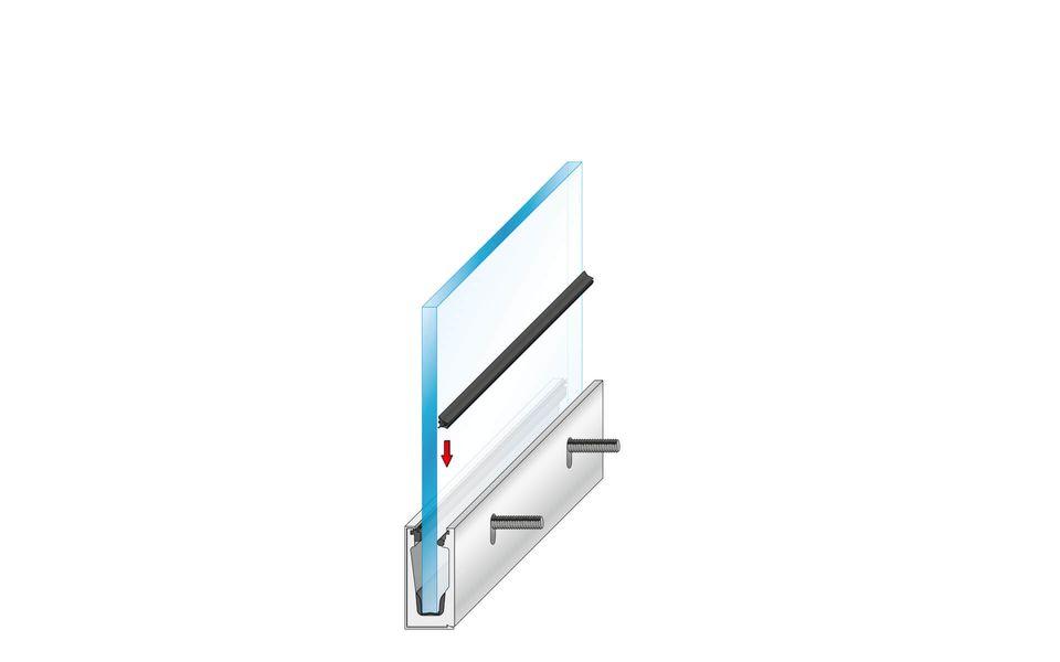 Glassline Glasgeländer Balardo Alu Montage Step 7