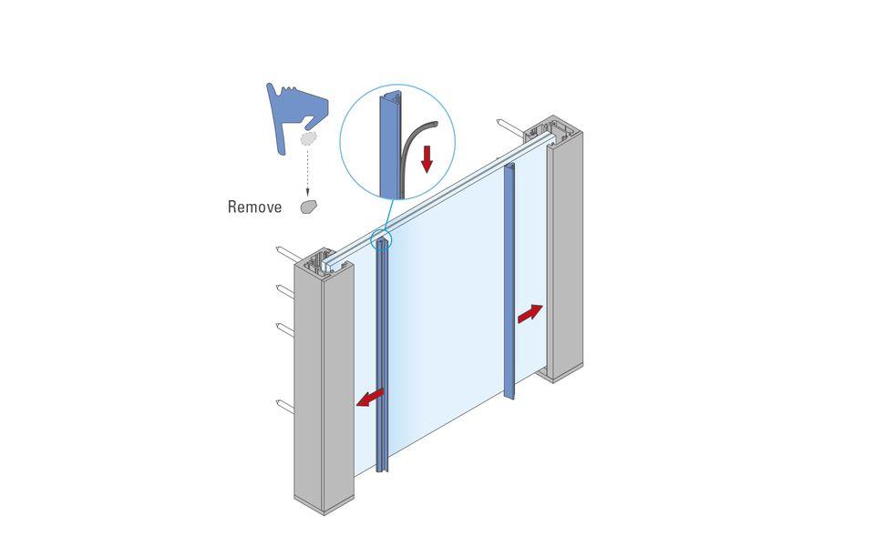 Glassline French balcony fall protection BALMERO Installation instructions step 7