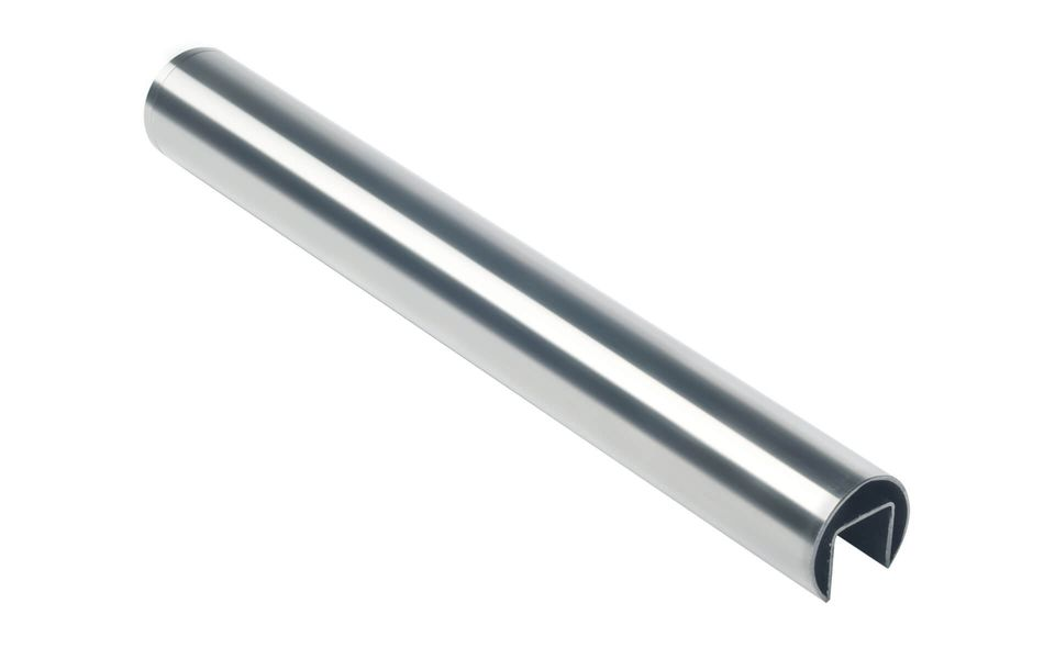 Glass railing Balardo core stainless steel handrail round