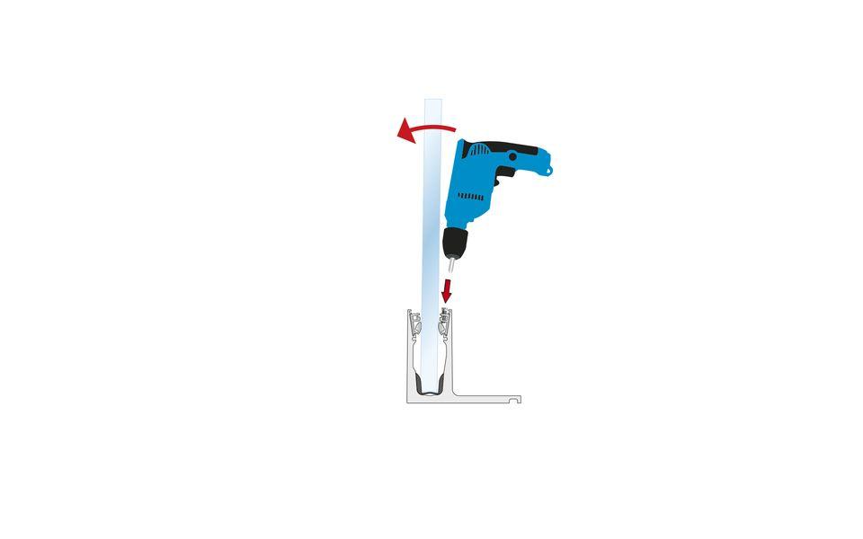 Glassline Ganzglasgeländer BALARDO hybrid Montage Step 8