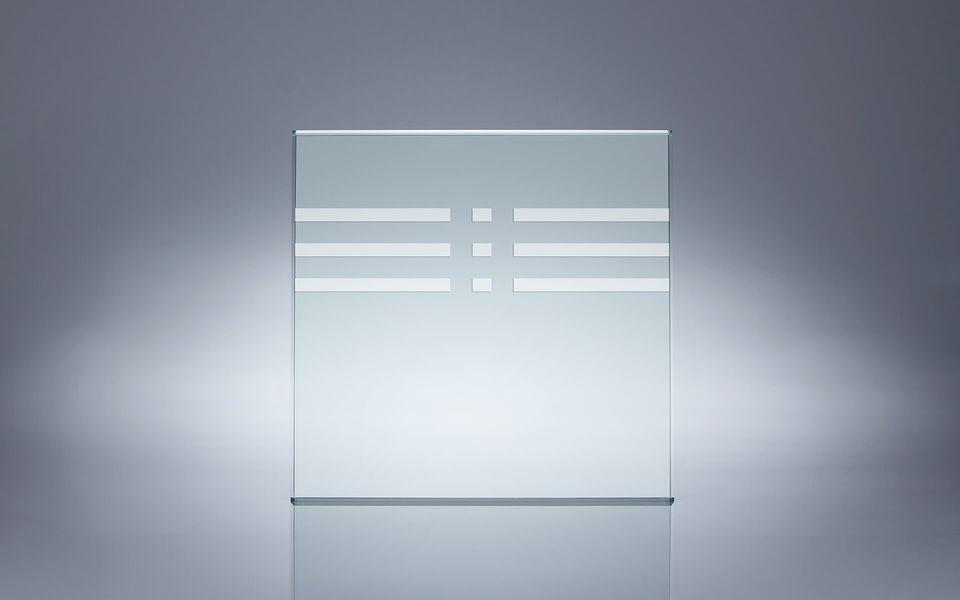 Wind- und Sichtschutz Davento von Glassline - Glasbeispiel Rechtecke