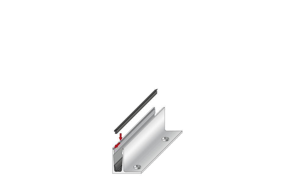 Plafondhoge beglazing Balardo Glasswall van GLASSLINE - Montage-Step 4