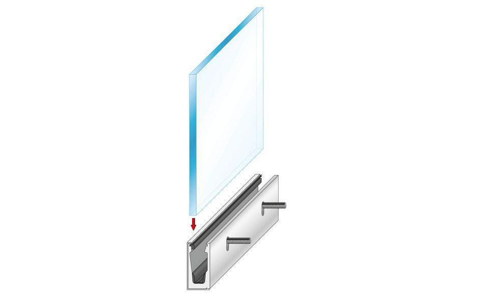 Glassline Glasgeländer Balardo Alu Montage Step 4