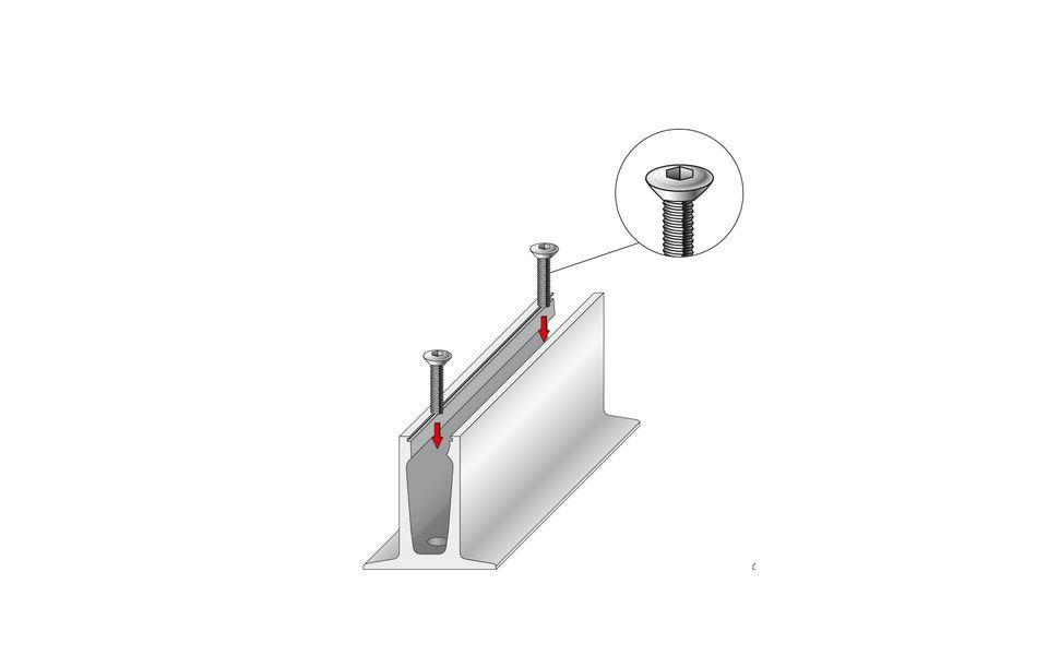 Wind- und Sichtschutz Davento von Glassline - Montage-Step 2