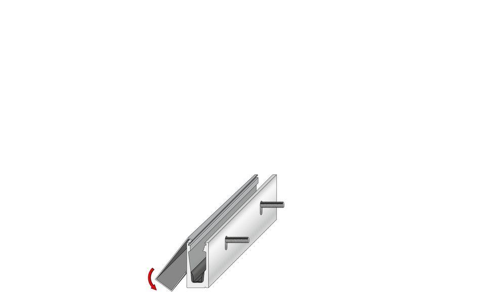 Glassline Glasgeländer Balardo Alu Montage Step 2