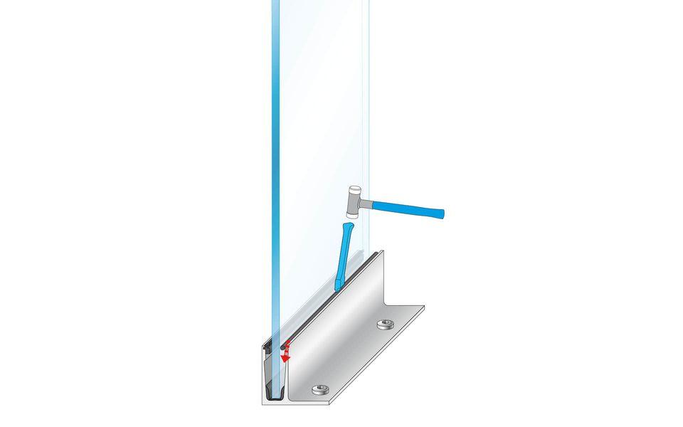 Raumhohe Verglasung Balardo Glasswall von Glassline - Montage-Schritt 8
