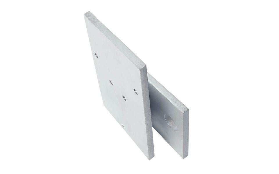 Glassline Glasgeländer Balardo Steel Bauanschlusselement seitlich mit Abstand