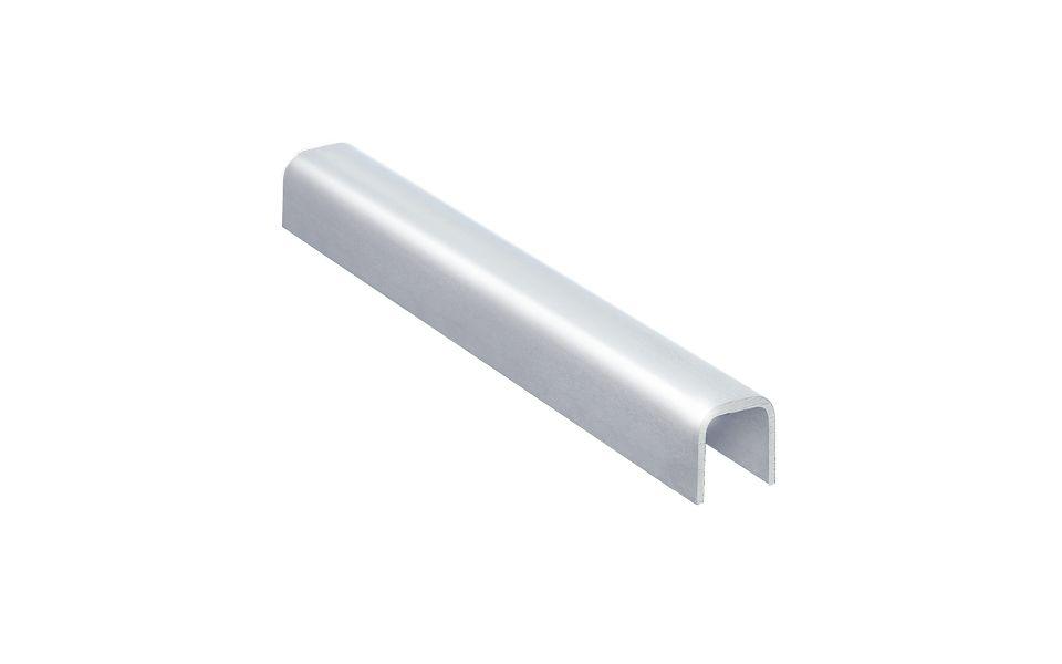 U-Profil, U 30 x 27, t = 3 mm, inkl. Gummiaufsteckprofil, Lieferlänge 3.000 mm, Material: Edelstahl 1.4301 und 1.4404, Oberfläche: geschliffen