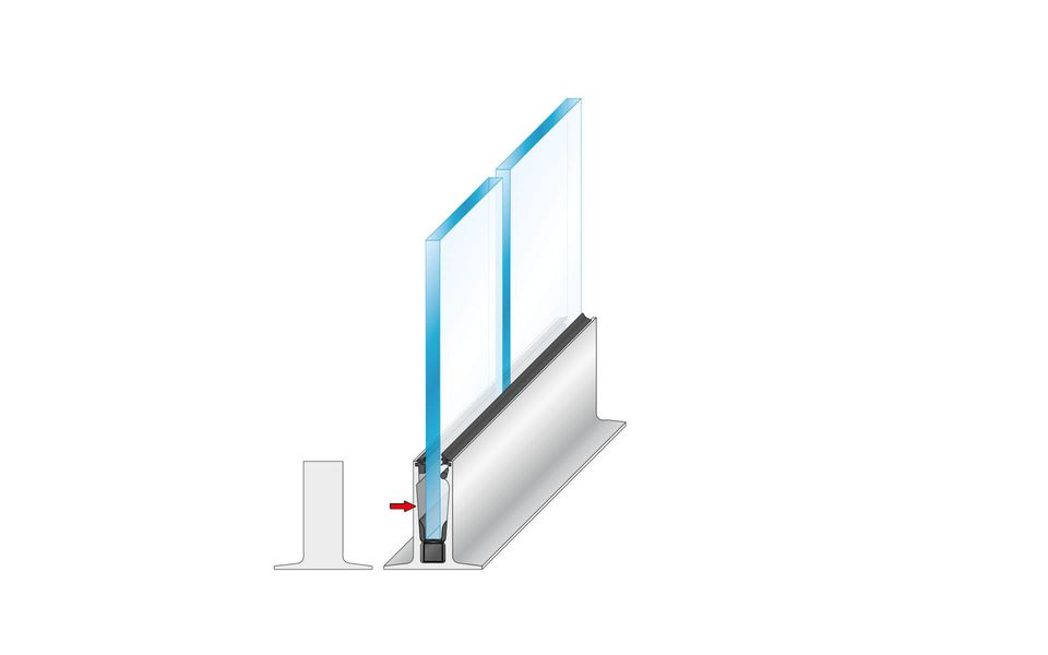 Wind- und Sichtschutz Davento von Glassline - Aufkleben der Endkappe