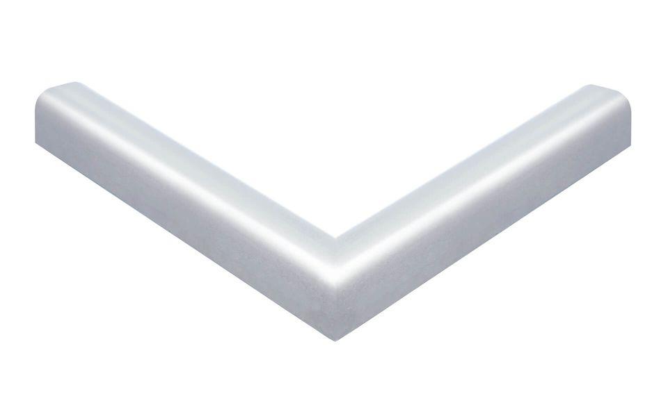 Glasgeländer Balardo Alu 90° ECKE AUSSENMASS 200 x 200 mm für systemangepasstes Glaskantenschutzprofi