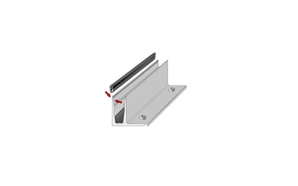 Glassline Ganzglasgeländer BALARDO hybrid Montage Step 3