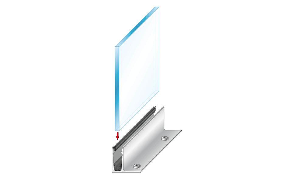 Glasgeländer Balardo Alu - Leichtbau Ganzglasgeländersystem