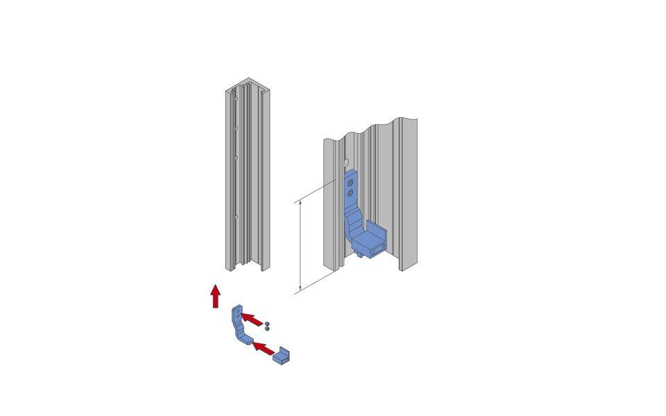 Glassline Französischer Balkon Absturzsicherung BALMERO Montage Step 1