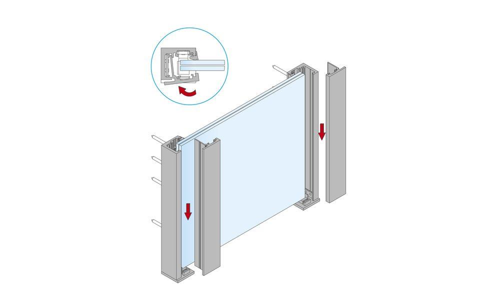 Glassline Französischer Balkon Absturzsicherung BALMERO Montage Step 6