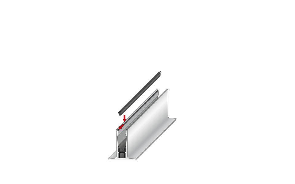Wind- und Sichtschutz Davento von Glassline - Fixierung der Außendichtung